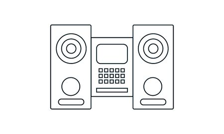 Sound system vector icon. Simple flat symbol. Perfect pictogram illustration on white background. 向量圖像