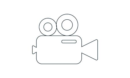 Video camera icon. Cinema camera icon. Film camera, Movie camera icon. Vector icon EPS 10