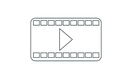 play video vector icon. Illustration isolated for graphic and web design.