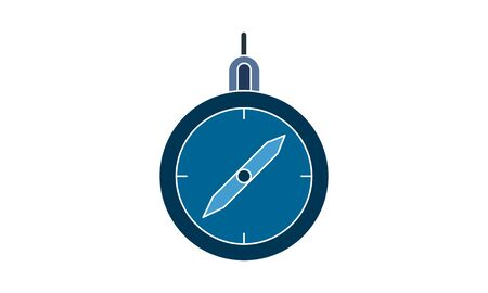 Compass icon vector, illustration template in trendy style. Can be used for many purposes.