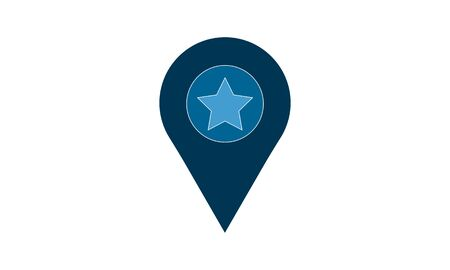 Favorite Place icon. High quality for web site design and mobile apps. Vector illustration on a white background.