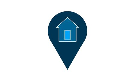 Home location icon vector. Simple flat symbol. Perfect pictogram illustration on white background.