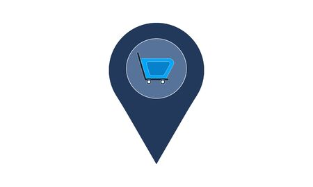 Shop Location icon. vector. Simple flat symbol. Perfect pictogram illustration on white background.