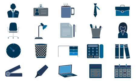 Office file icon set vector concept illustration for design.