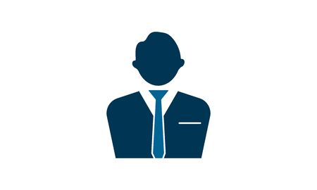 Business man vector icon.Simple flat symbol. Perfect pictogram illustration on white background.