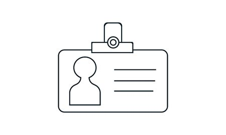 ID card vector icon. Flat style graphical symbol. Illustration
