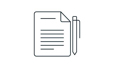 Note book icon vector Illustration used for website.