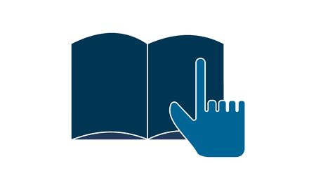 Select Book icon. Vector illustration. Flat pictogram. Library symbol. Çizim