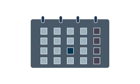Calendar or organizer isolated icon vector. Delivery term or shipping dates, planning events, month schedule and meeting appointment. Days and weeks grid, wall reminder, deadline checking or control  イラスト・ベクター素材