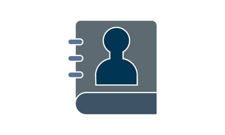 Contact information icon. Element of human resources signs with name for mobile concept and web apps. Contact information icon can be used for web and mobile stock illustration Illustration