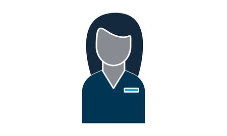 Consultant, customer service, customer support icon vector illustration. Illustration
