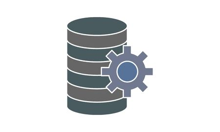 Database management Vector Glyph icon.