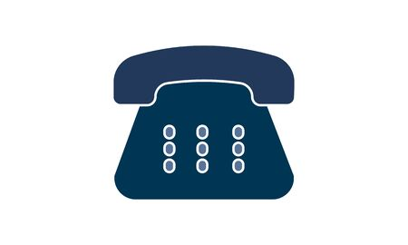 Landline telephone icon in duo tone color. Communication local vintage  イラスト・ベクター素材