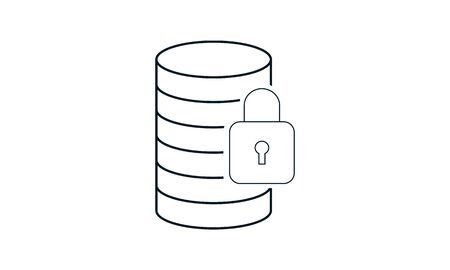Database Security icon vector concept illustration for design.