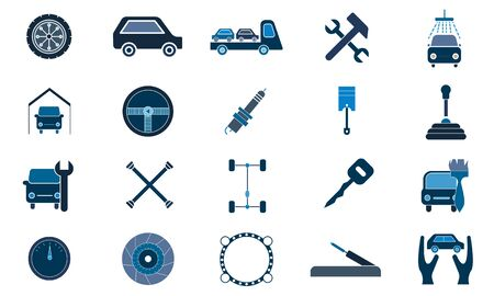 Auto service icon set. High quality for web site design and mobile apps. Vector illustration on a white background.