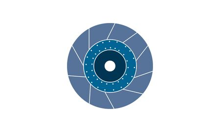 Brake Disk icon flat style graphical symbol.