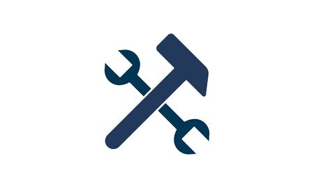 Hammer and wrench icon. Riper icon concept used for web and mobiles apps.  イラスト・ベクター素材