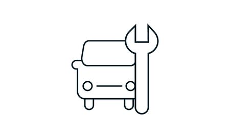 Car servicing icon illustration isolated vector sign symbol