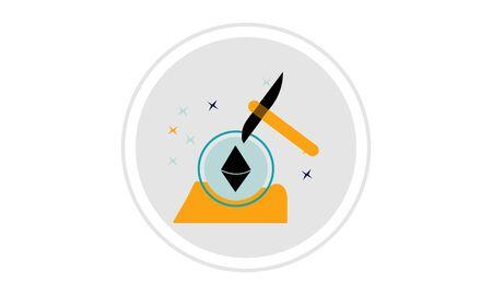 Ethereum mining icon design. e-commerce icon vector illustration