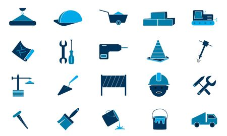 Building tools icons vector illustration used for web.
