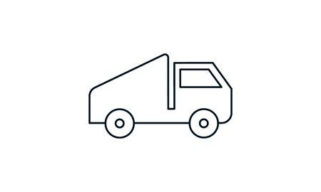 Dump Truck vector icon used for website.
