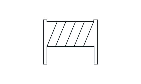 Guardrail icon. Simple illustration of guardrail vector icon for web
