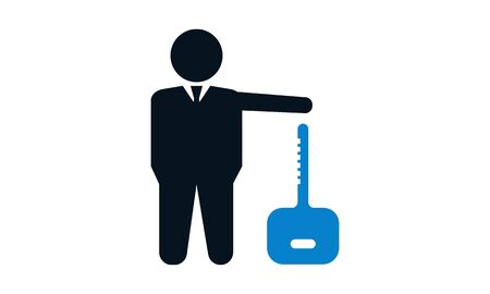 Business security icon vector illustration.