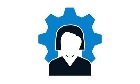 User setting icon vector illustrator.