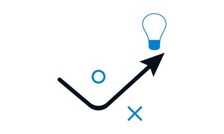 Creative tactics vector icon - illustration Stock fotó - 133233214