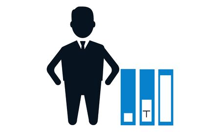 Employee ability vector icon - vector