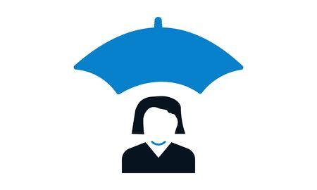 Employee security icon vector illustration. Illustration