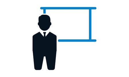 Lecture icon. Flat style vector illustration.