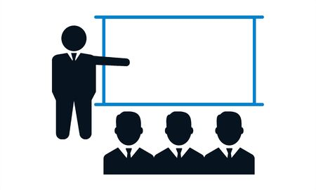 Training, presentation, education icon. Vector.