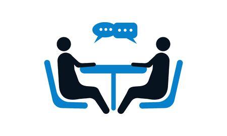 Negotiation Vector Icon. Negotiation Icon . Negotiation Vector Concept. Negotiations Vector Icon Ilustração