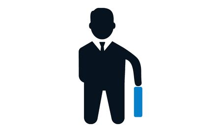 Businessman Icon. Businessman black web icon. vector illustration used for website.