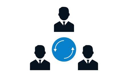 Teamwork communication vector icon. Stock Illustratie