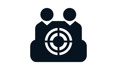 Teamwork goal icon flat style vector illustration.