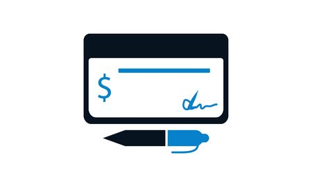 Bank check icon. Payment icon concept vector illustration.