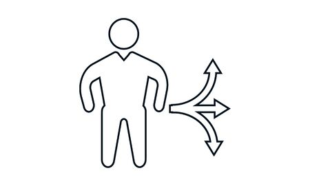 Business choice outline vector icon. Standard-Bild - 133505809