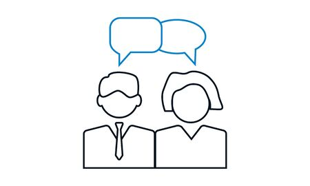 Business communication outline vector icon.