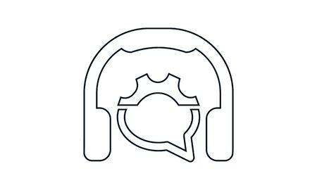 Helpline icon. Flat style vector graphical symbol. Ilustração