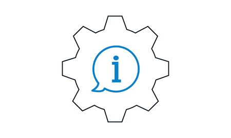 Info setting icon outline style vector graphical symbol.