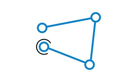 Connectivity vector icon. Flat symbol. Pictogram is isolated on a white background. Designed for web and software interfaces.