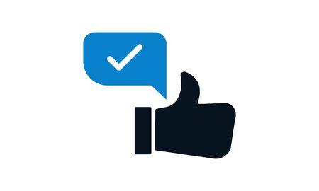 Positive Feedback Vector Line Icon Vektorgrafik