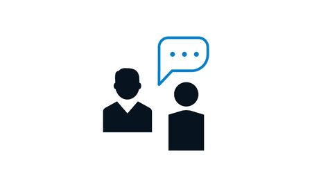 Business conversation vector icon.