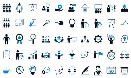 Business icons vector illustration used for web and mobile apps.