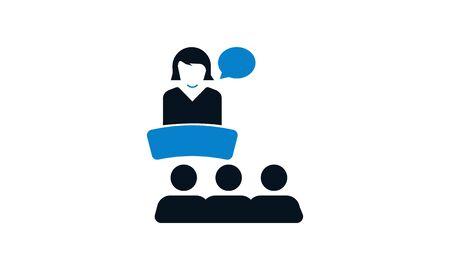 Business presentation vector flat icon. Ilustração