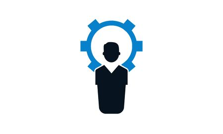 Technical expert, Business service icon. Illustration