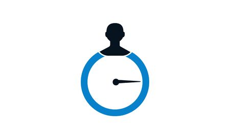 Time management vector icon . Time and gear icon. Fill vector icon