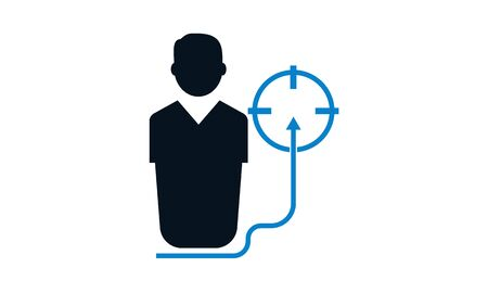 Business target vector icon - vector